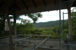 Mountain view from the practice hall.